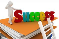 Stairs leading to success Stock Images
