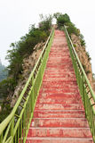 Stairs leading to the top. Of the mountain Stock Image
