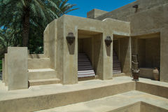 Stairs leading up at luxury arabic desert resort Stock Photography