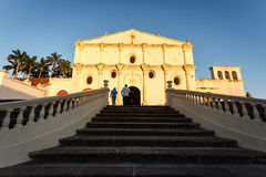 Stairs leading up to San Francisco Catholic Church in Granada, Nicaragua Stock Image