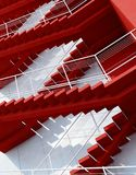 Stairs leading upward. 3d rendering stock illustration