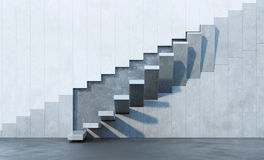 Stairs leading upward. Architectural composition royalty free illustration