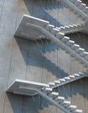 Stairs leading upward Stock Image