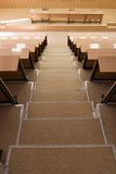 Stairs in a lecture hall Royalty Free Stock Image