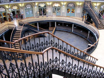Stairs. LEEDS, YORKSHIRE, UK. JANUARY 24, 2016.  The architectural designed interior stairs and floors of the Corn Exchange at Leeds in Yorkshire, UK Stock Photo