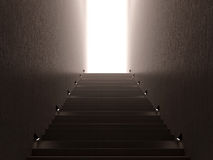 Stairs with light. 3d abstract scene stairs with light Royalty Free Stock Photo