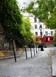 Stairs with lightpole at Montmartre, Paris, France Stock Photo