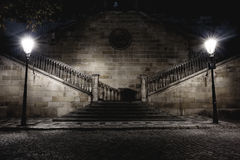 Stairs with lights Royalty Free Stock Photography