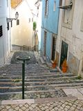 Stairs in the Lisbon Stock Photos