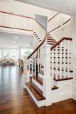 Stairs and Living Room in New Home Royalty Free Stock Photo
