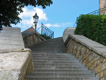 Stairs in Loket. Historic stairs in the Loket Stock Image