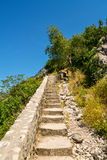 Stairs on Lovcen Mountain. From old town Kotor, Montenegro Stock Photography