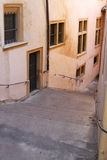 Stairs in Lyon historic district Royalty Free Stock Photography