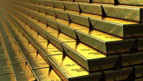 Stairs made of gold bars or bullions, loopable animation. Success or getting rich concepts. Stairs made of gold bars or bullions, loopable animation stock video