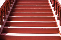 Stairs made of a red cement Royalty Free Stock Photos