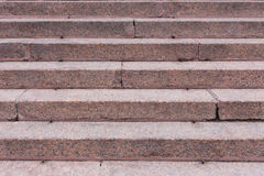 Stairs made of red granite Royalty Free Stock Photo