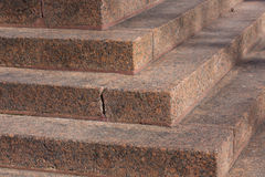 Stairs made of red granite Stock Photos