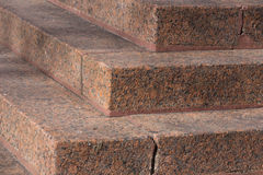Stairs made of red granite Royalty Free Stock Photos