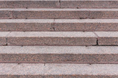 Stairs made of red granite Stock Image