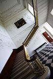 Stairs at main room in Russborough Stately House, Ireland. Stairs and decorated walls at main room inside Russborough Stately House, county Wicklow, Ireland stock image