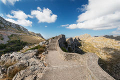 Stairs at Mallorca mountain Spain Royalty Free Stock Image