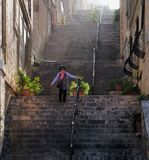 Stairs of Malta streets. Valletta. Stairs of Malta streets. Old Ladder Stairs. Differences in the heights of the old Maltese city. Malta Stock Photography