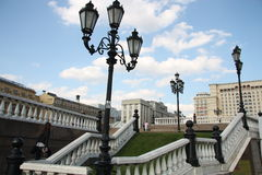 Stairs of Manezhnaya Square, Moscow Royalty Free Stock Photo