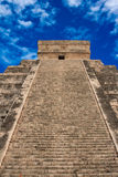 Stairs on Mayan pyramid in Chichen-Itza, Mexico. Stairs on ancient Mayan pyramid in Chichen-Itza, Mexico Stock Image