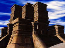 Stairs of Mayan temple. The stairs of Mayan temple Royalty Free Stock Images