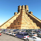 The stairs of Mayan temple 3d rendering. The stairs of Mayan temple Stock Photos