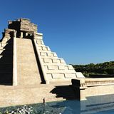 The stairs of Mayan temple 3d rendering. The stairs of Mayan temple Royalty Free Stock Photography