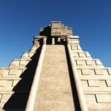 The stairs of Mayan temple 3d rendering. The stairs of Mayan temple Stock Images