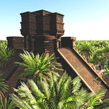 The stairs of Mayan temple 3d rendering. The stairs of Mayan temple Stock Photography