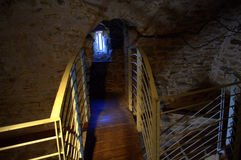 Stairs in medieval fortress,Kavala Royalty Free Stock Images