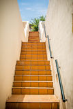 Stairs in mediterranean house Royalty Free Stock Images