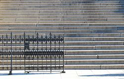 Stairs with a metal fence Royalty Free Stock Photo