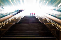 Stairs in the metro cities of Hamburg Stock Photography