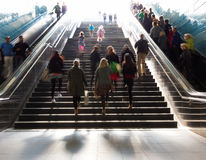Stairs in the metro citiy Royalty Free Stock Photography