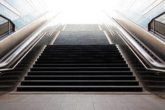 Stairs in metro of city Hamburg Royalty Free Stock Photos