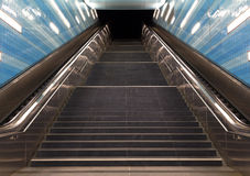 Stairs in the metro of city Hamburg. Germany royalty free stock photo