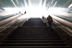 Stairs in the metro of Hamburg city Stock Images