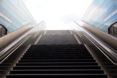 Stairs in the metro of Hamburg Royalty Free Stock Photo