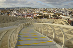 Stairs at Metropol Parasol Royalty Free Stock Photography