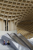 Stairs at the Metropol Parasol of Seville Royalty Free Stock Images