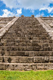 Stairs in Mexico. An old beatiful stairs in chichen itza, Mexico Royalty Free Stock Images