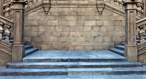 Stairs, middle ages , Spain Royalty Free Stock Photo