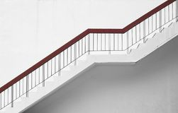 Stairs with minimalism wall. Background Royalty Free Stock Photo