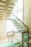 Stairs in modern home interior Royalty Free Stock Photo