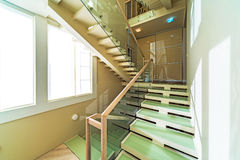 Stairs in modern home interior Royalty Free Stock Images