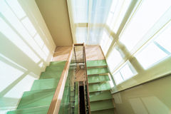 Stairs in modern home interior Stock Images